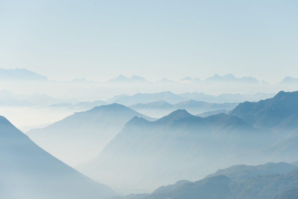 Berge im Nebel - Resilienz