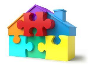 Haus als Puzzle